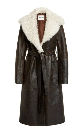 Planet Shearling Wrap Coat