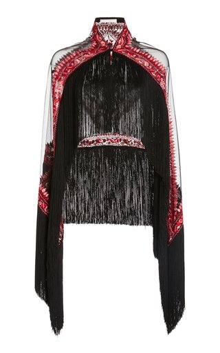 Fringed Tulle Cape