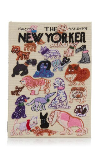Specialorder-The New Yorker Dogs Book Clutch With Custom Initials-ER