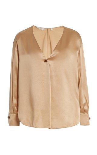 Pleated Silk Blouse