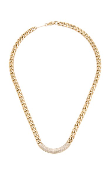 14K Yellow Gold & Diamond Large Chain Necklace