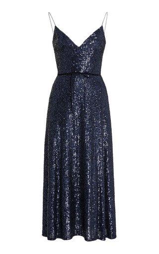 Sequined Slip Dress