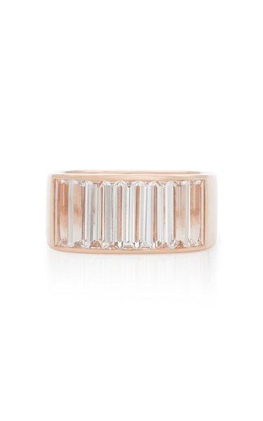 White Topaz 14K Rose Gold Ring