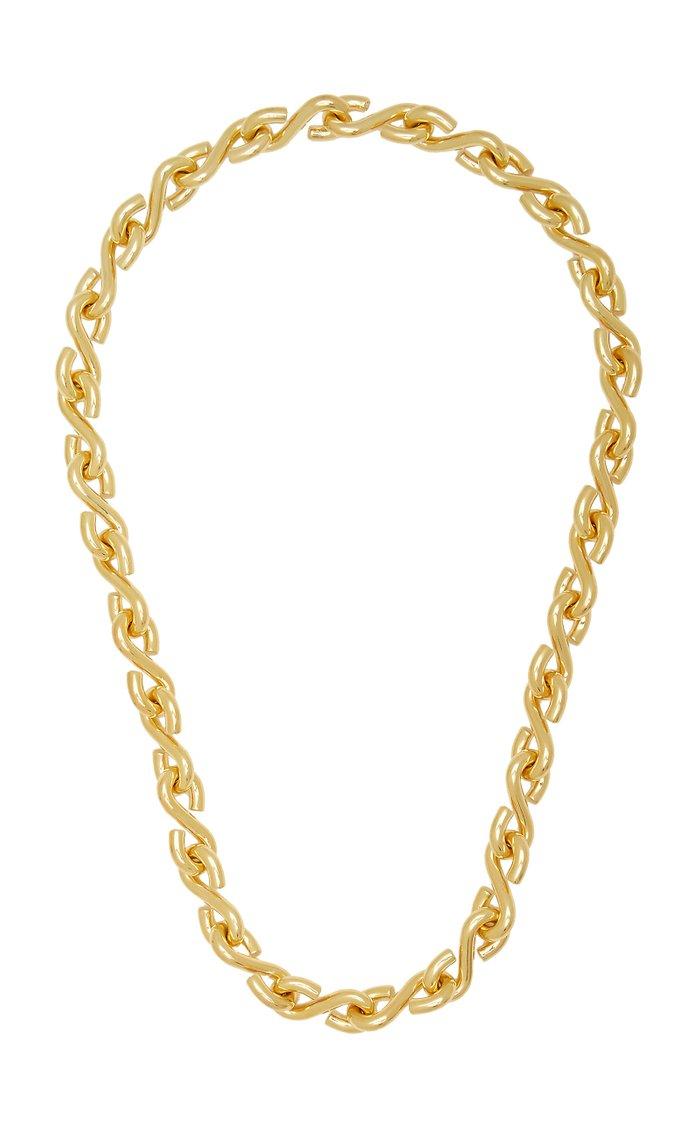 S Necklace Polished Vermeil