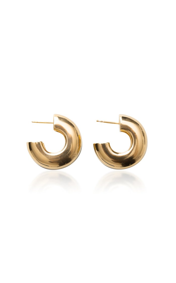 Tire Earrings Polished Vermeil
