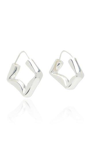 Straw Earrings Polished Silver