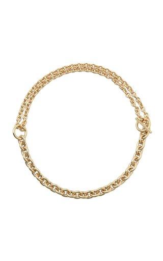 Double Necklace Polished Vermeil