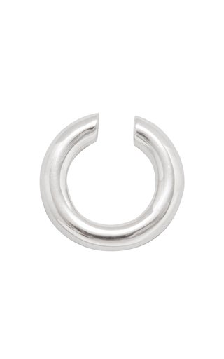 Almost Ear Cuff Thin Polished Silver
