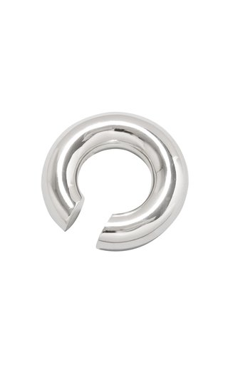 Almost Ear Cuff Thick Polished Silver
