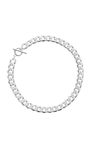 Moto Necklace Polished Silver