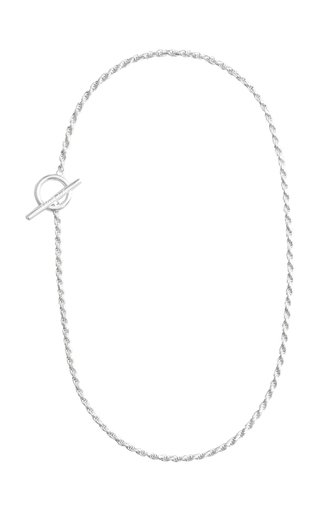 Rope Necklace Polished Silver