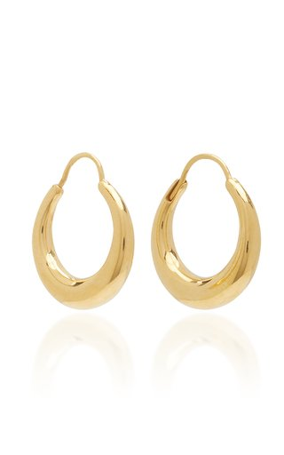 Snake Earrings Small Thick Polished Vermeil
