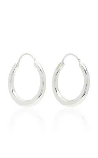 Snake Earrings Small Thin Polished Silver