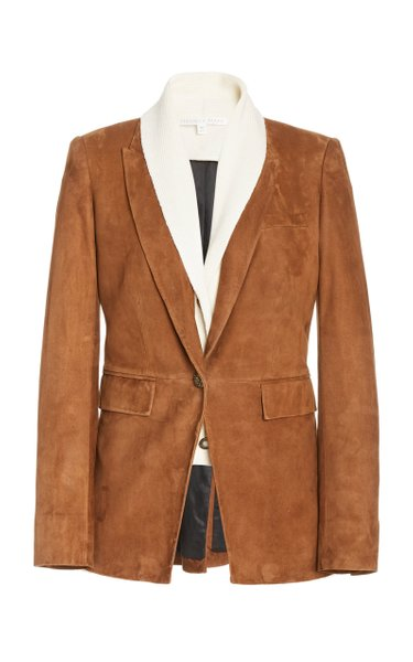 Long And Lean Suede Blazer