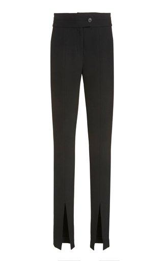 Jessamy Crepe Slit-Hem Trousers