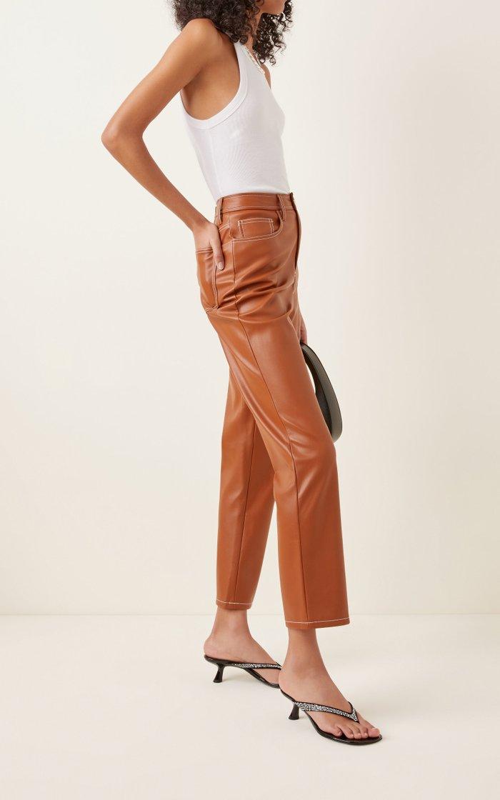 Beep Crystal-Embellished Leather Thong Sandals