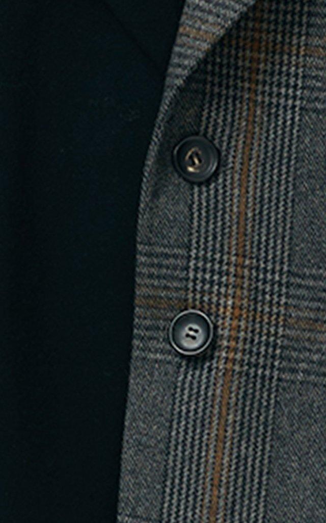 Two-Tone Single-Breasted Wool-Blend Blazer