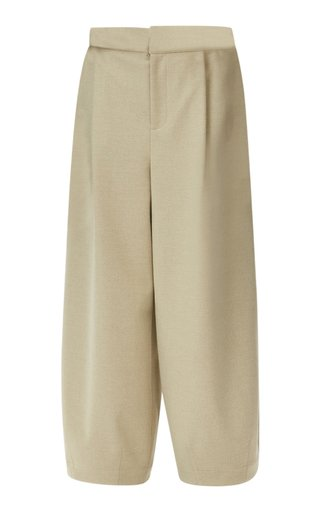 Stella Bonded Stretch-Wool Pants