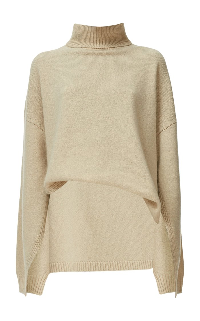 Cashmere-Wool Turtleneck Sweater