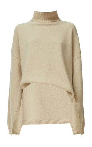 Cashmere-Wool Turtleneck Sweater