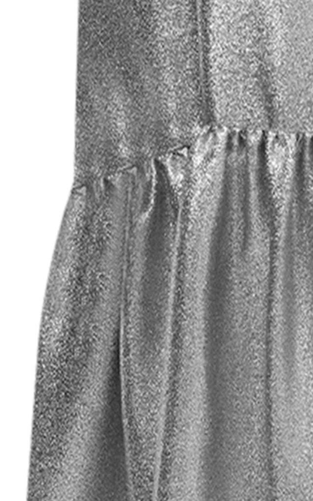Metallic Lame Drop-Waist Dress