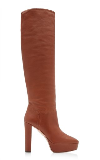Chambord Platform Leather Knee Boots