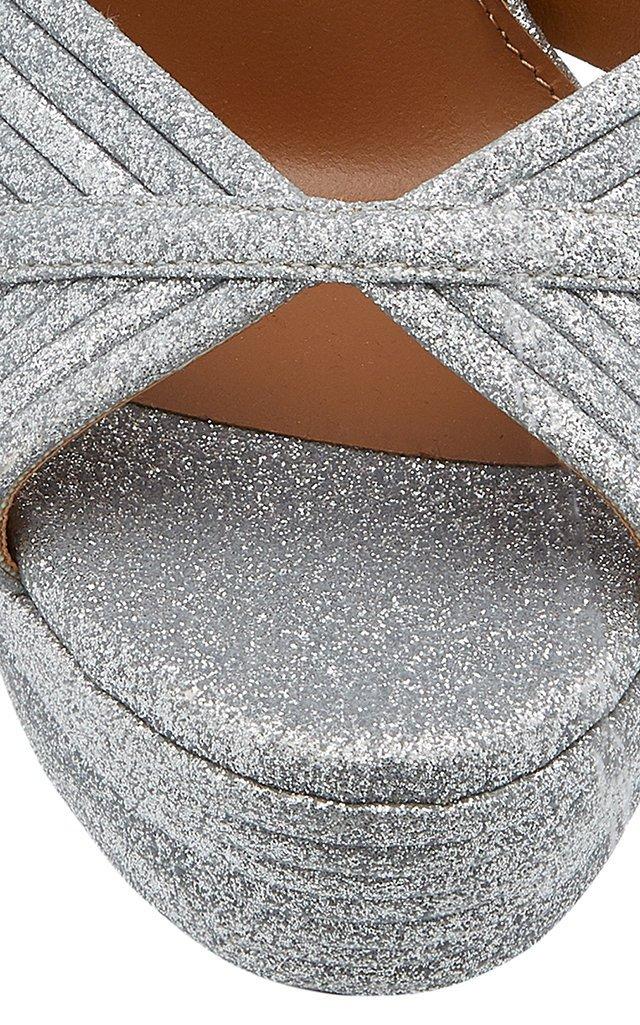 Sundance Plateau Glittered Platform Sandals