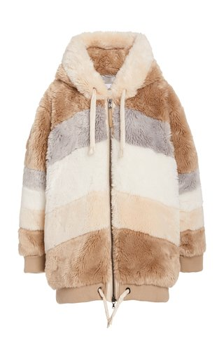 Indra Oversized Faux Fur Hooded Jacket