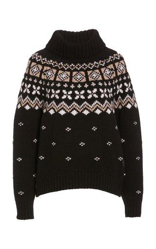 Sina Fair Isle Cashmere Turtleneck Sweater