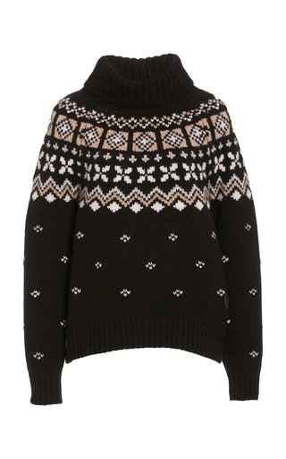 Sina Fair Isle Cashmere Turtleneck Sweater