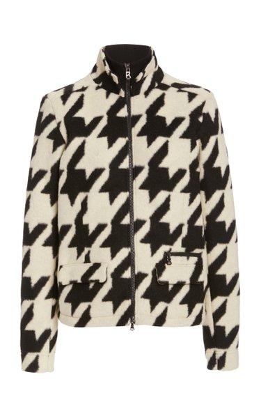 Robyn Houndstooth Fleece Jacket