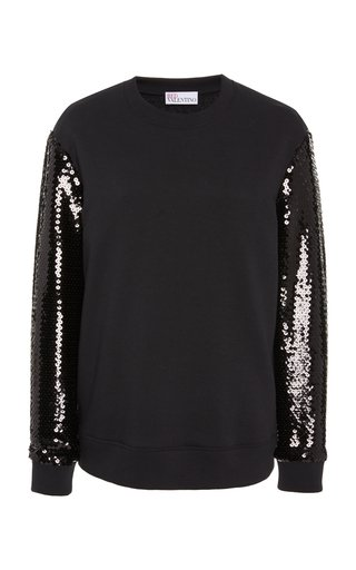 Sequin-Embellished Knit Sweater