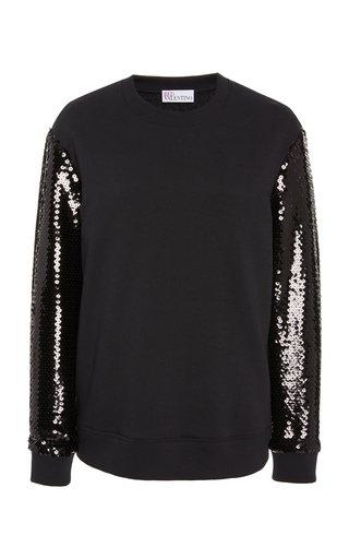 Sequin-Embellished Knit Sweater