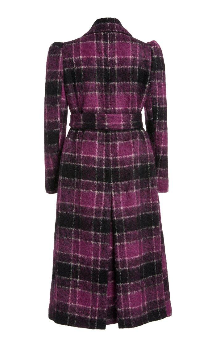 Belted Tartan Plaid Coat