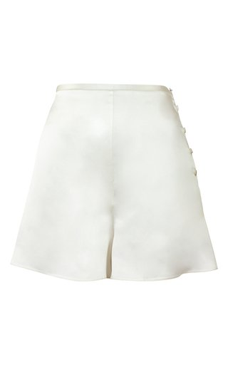 High-Rise Silk Shorts