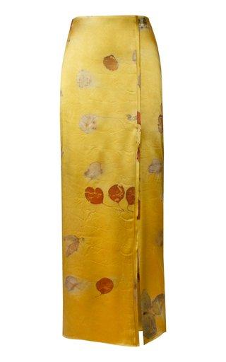Dyed Silk Pencil Skirt