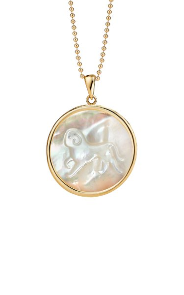 Aries Mother-of-Pearl 18K Yellow Gold Necklace