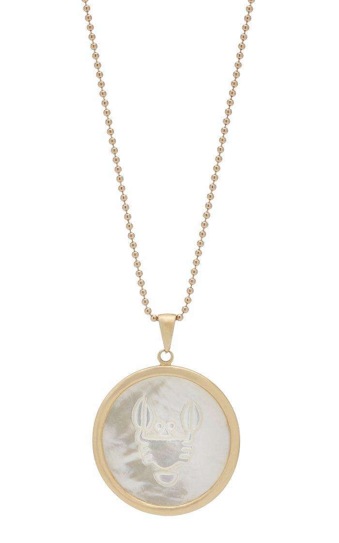 Cancer 18K Gold Necklace