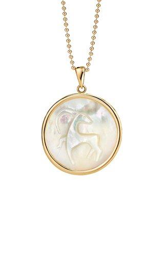 Capricorn 18K Gold Pendant