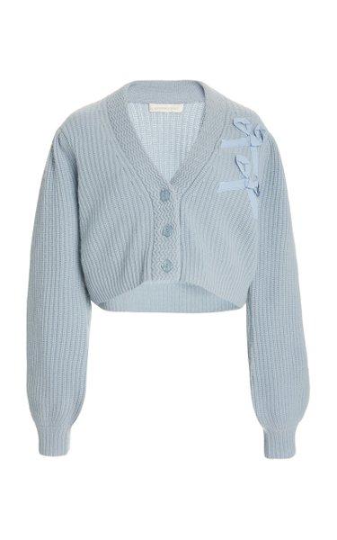 Avignon Cropped Cashmere Cardigan Sweater
