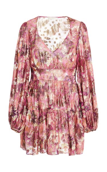 Willis Embellished Metallic Devore Mini Dress