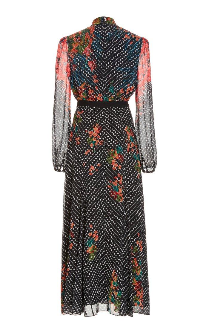Jacqui-B Belted Silk Dress