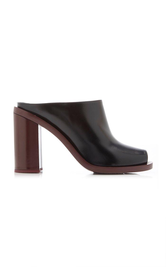 Open-Toe Leather Clogs