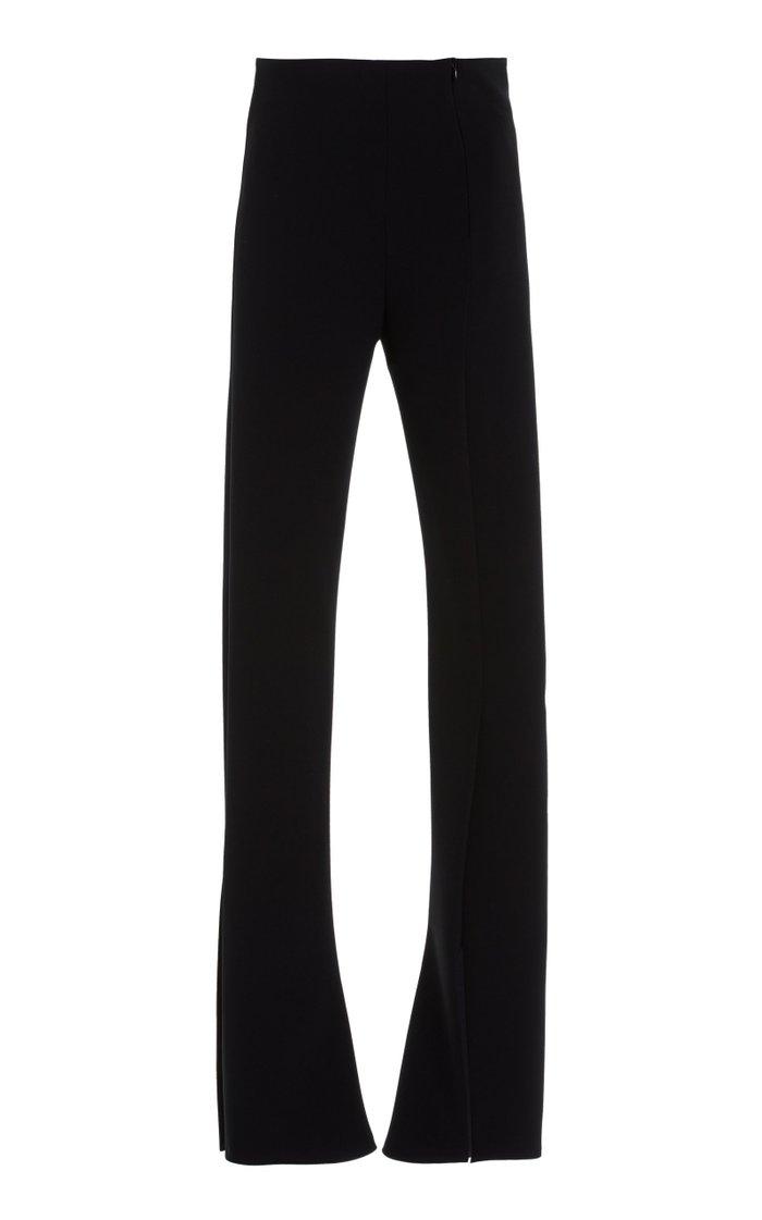 Split-Leg Cady Skinny Pants