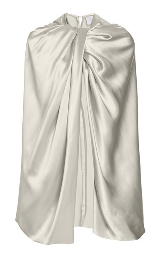 Twisted Satin Cape