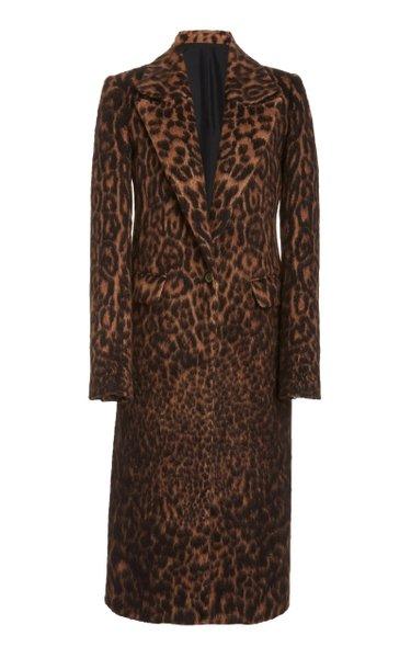 Leopard-Printed Sherpa Coat