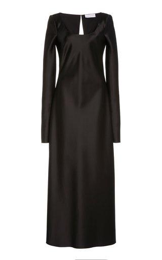 Satin Slip Midi Dress
