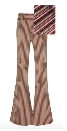 Specialorder-Hendrix Striped Cotton Flared Pants-MS