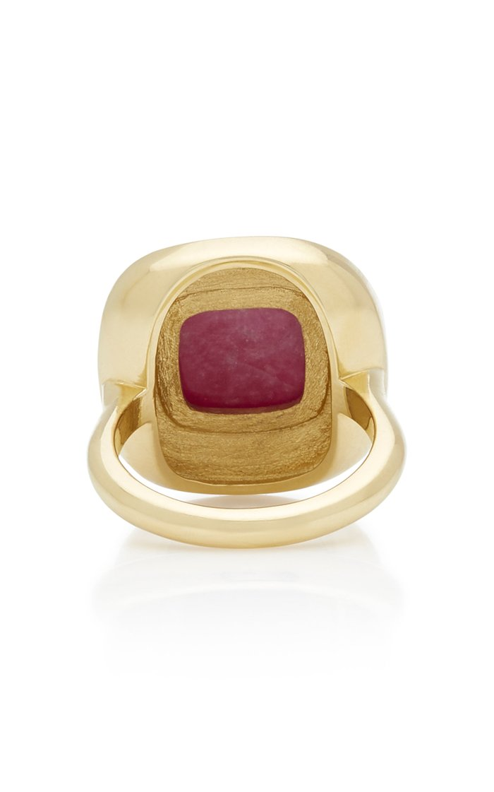 Museum Series Sugarloaf Ruby 18K Yellow Gold Ring