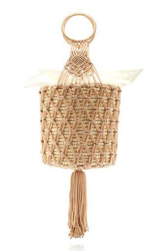 Macramé and Straw basket